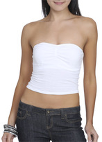 Wet Seal WetSeal Ruched Front Tube Top White