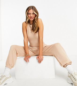 Missy Empire Missyempire exclusive high-waist trackies in sand