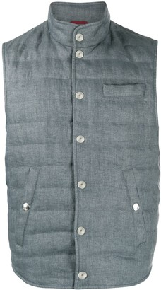 Brunello Cucinelli Quilted Stand-Collar Down Gilet