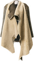 Antonio Marras mismatched asymmetrical coat - women - Cotton/Ramie/Acrylic/other fibers - 40