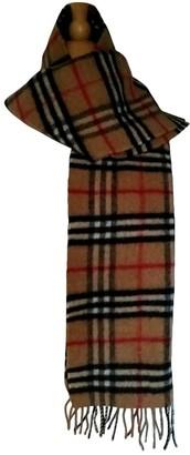 Burberry Camel Cashmere Scarves