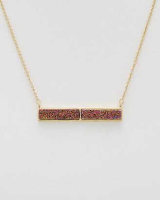 Rivka Friedman 18K Clad Quartz Necklace