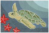 Liora Manné Trans Ocean Imports Frontporch Sea Turtle Indoor Outdoor Rug