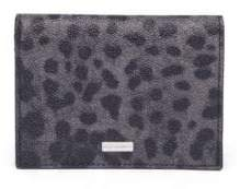 Dolce & Gabbana Leopard Print Leather Bifold Wallet