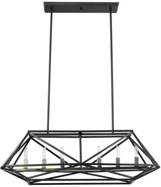 Globe Electric Sansa 5-Light Dark Bronze Chandelier, 6-Light