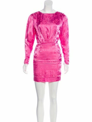 ATTICO Long Sleeve Floral Dress w/ Tags Pink