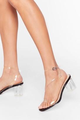 Nasty Gal Womens A Clear Vision Low Block Heels - Black - 3