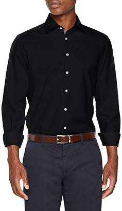 Seidensticker Men's Slim Langarm mit Kent-Kragen Bügelfrei Business Shirt