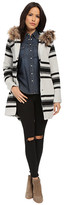 BB Dakota Weslan Striped Jacquard Coat