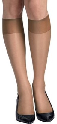 Hanes Womens Silk Reflections Sheer Toe Knee Highs 6-Pack Style-QM6725