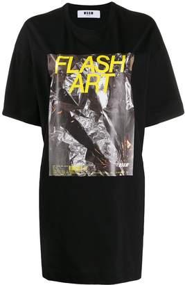 MSGM Flash Art print T-shirt dress