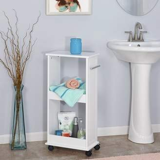 Riverridge Home RiverRidge Rolling Side Cabinet with Shelves - White