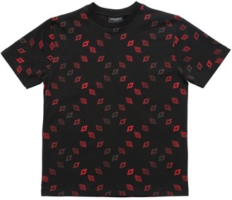 Marcelo Burlon County of Milan All Over Logo Print Jersey T-Shirt