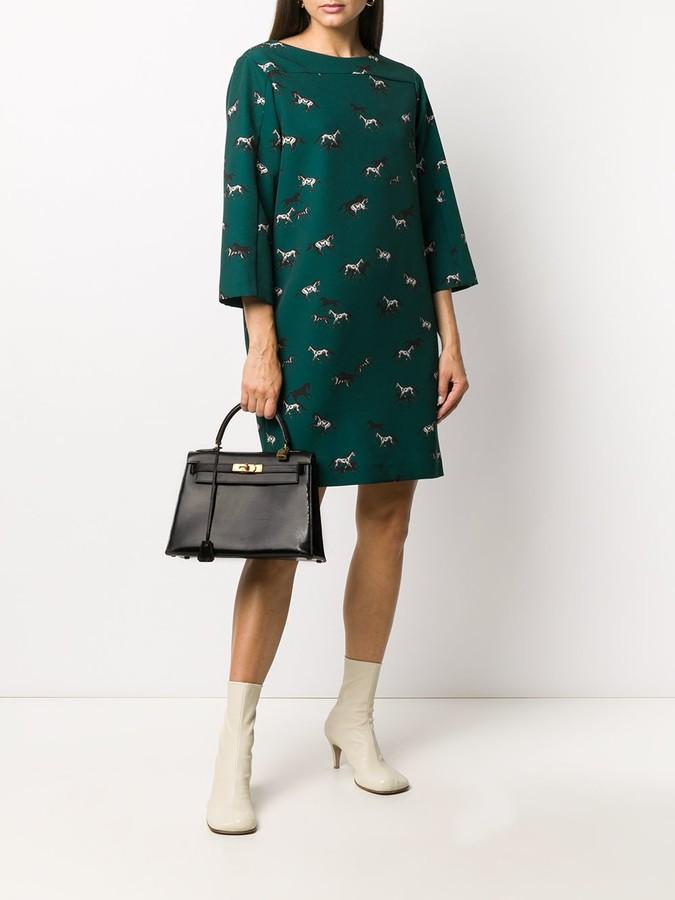 Thumbnail for your product : Altea Horse-Print Midi Dress