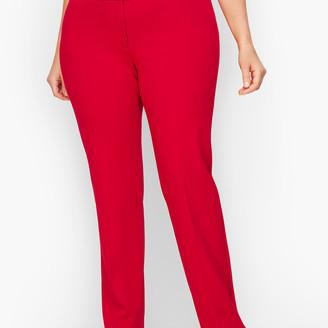 Talbots Italian Luxe Knit Straight-Leg Pants