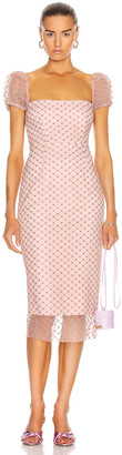 Rêve Riche Reve Riche Rozalina Midi Dress in Light Rose | FWRD
