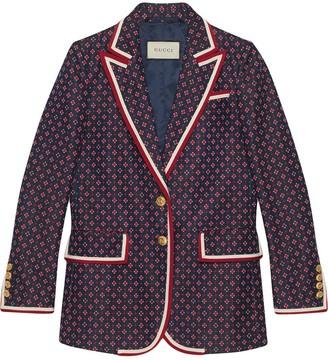 Gucci Jacket with geometric jacquard pattern