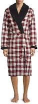 UGG Kalib Plaid Twill Fleece-Lined Robe