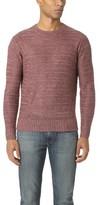 Todd Snyder Linen Melange Drop Stitch Crew Sweater