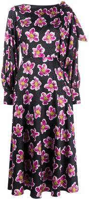 Borgo de Nor Marina floral-print midi dress