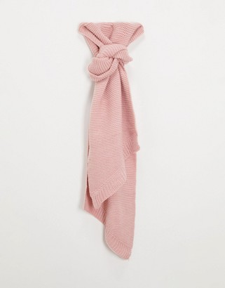Pieces Long Scarf In Pink