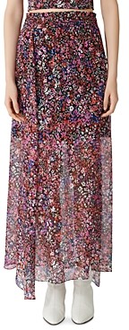 Maje Jehane Floral Maxi Skirt