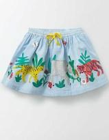 Boden Jungle Appliqué Skirt