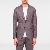 Paul Smith A Suit To Travel In - Tailored-Fit Mauve Windowpane Check Blazer