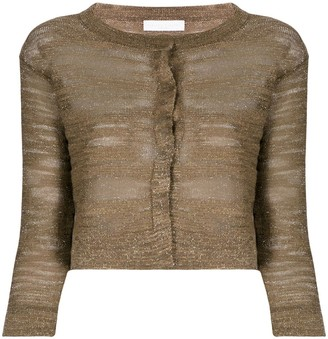 Fabiana Filippi Metallic Burnout Cardigan