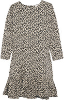 The Great The Drop Ruffled Floral-print Cotton Dress - Cream