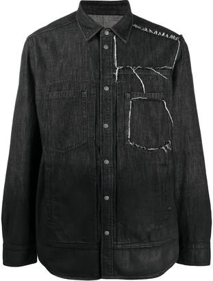Diesel Distressed Denim Shirt