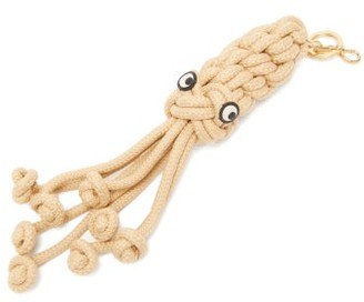 Anya Hindmarch Woven Squid-charm Key Ring - Beige