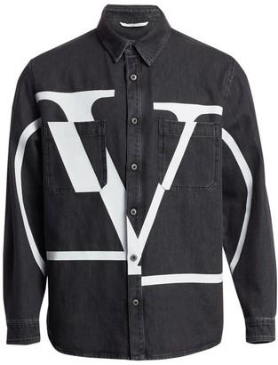 Valentino Logo Denim Jacket