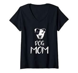 Womens Dog Mom Pit Bull - Mothers Day Dog Lover Gift V-Neck T-Shirt