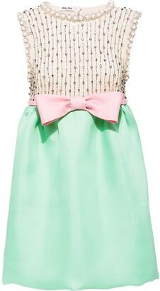 Miu Miu Gazar Embroidered Dress