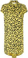 Saint Laurent cheetah print shirt dress