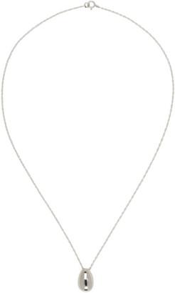 Sophie Buhai Silver Tiny Egg Pendant Necklace