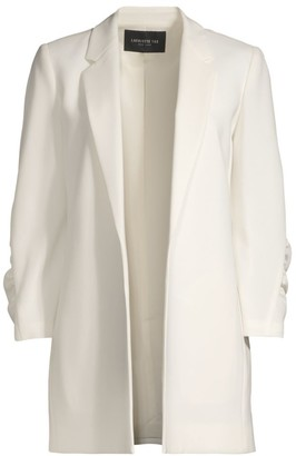 Lafayette 148 New York Cole Ruched Sleeve Crepe Blazer