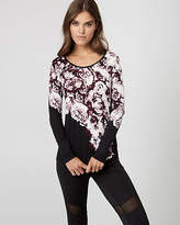 Le Château Floral Print Jersey Scoop Neck Pullover