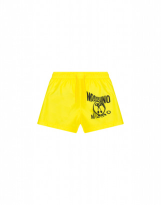 Moschino Distorted Double Question Mark Beach Boxer Man Yellow Size 4a It - (4y Us)