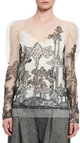 Chloé Dreamscape Embroidered Tulle Top