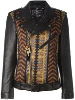 Etro embroidered biker jacket