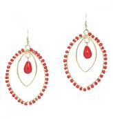 Mela Artisans Spirit in Coral Earrings