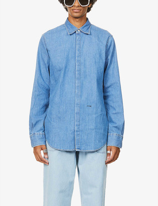 DSQUARED2 Logo-print oversized denim shirt