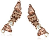 "Kenneth Cole New York Stone Cluster Rose Gold"" Rose Faceted Stone Crawler Earrings"