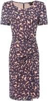 Armani Exchange Short Sleeve Printed Dress in Pink Mushroom