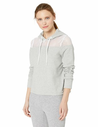 Andrew Marc Women's Meet & Greet Hooded Pullover with Mesh