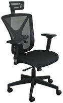 Marvel Executive Mesh Chair with Black Base and Headrest