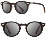Shwood Men's 'Florence' 49Mm Polarized Wood Sunglasses - Ebony/ Maple/ Grey