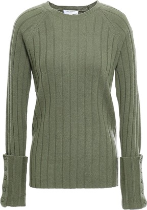 Equipment Joella Ribbed Wool And Cashmere-blend Sweater